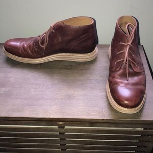 Cole Haan Brown Leather Chukkas